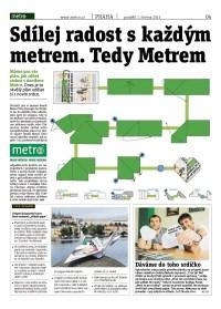 Metro čtečka digitálního vydání 1.6.2015