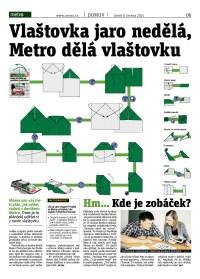 Metro čtečka digitálního vydání 9.6.2015